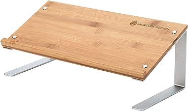 JackCubeDesign Bamboo Tablet Smartphone Book Stand Mobile Cell Phone Display Organizer Shelf Desktop Computer Laptop Docum...