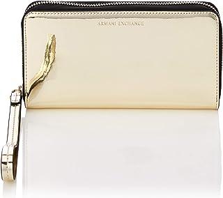 A|X Armani Exchange portafolios metálica con cierre de cierre y correa