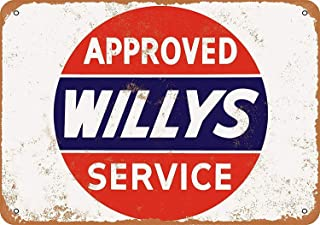 Kevin Porter Tin Sign New Metal Sign Funny Approved Willys Service Sign 11.8