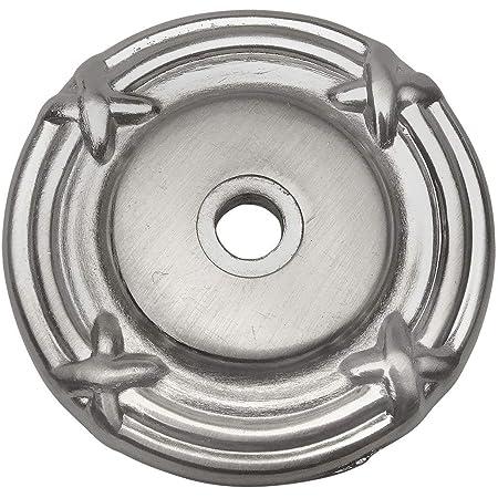 10 Pack - Cosmas 9468SN Satin Nickel Cabinet Hardware Knob Backplate/Back Plate