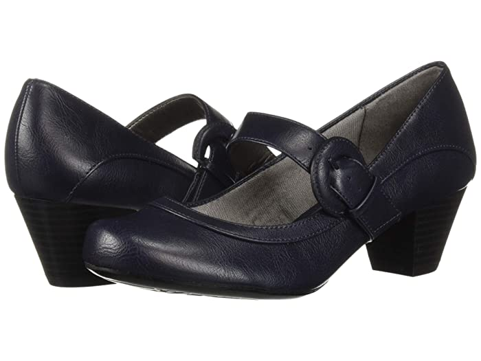 1940s Shoes Styles for Women History LifeStride Rozz Navy Womens Shoes $42.00 AT vintagedancer.com