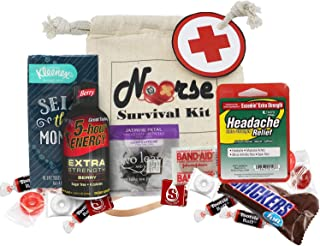 Nurse Survival Kit Fully Loaded and Pre-Made with Witty Instruction Card and Keepsake Muslin Bag