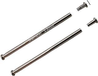 Masar 10 à 32mm Ø 1mm 1.2, 1.3, 1.5, 1.8mm Pins Tubes Barres de Pression de Bracelet de Montre avec extrémités de Rivet