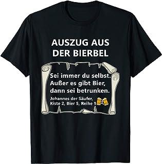 Bier Spruch Auszug Bierbel Johannes T-Shirt Geschenk Männer T-Shirt
