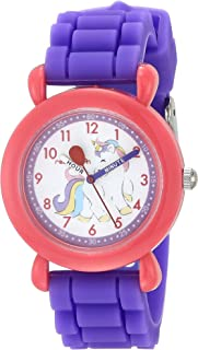 Red Balloon Girls Analog Quartz Watch with Silicone Strap, Purple, 16 (Model: WRB000140)
