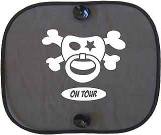 Racker n Roll SCHNULLERPITRAT ON TOUR Auto Sonnenschutz für Kinder