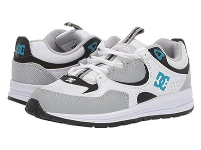 DC Kids Kalis Lite (Big Kid) (Grey/Blue/White) Boys Shoes