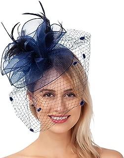 Fascinator Tea Party Pillbox Hats Kentucky Derby Headwear Cocktail Church Wedding Headpiece