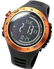 [ラドウェザー]アウトドア腕時計 高度計 気圧計 気温計 歩数計 コンパス 100m防水 スポーツ時計 lad024