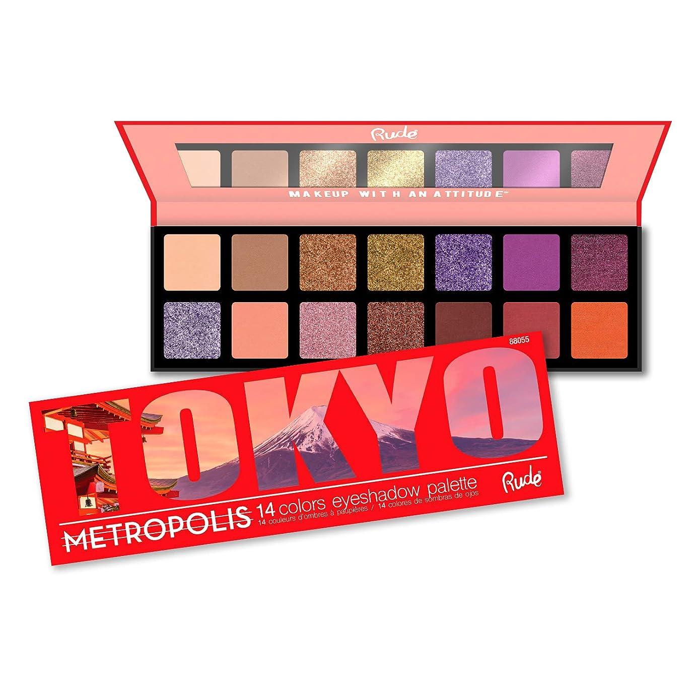 鼓舞するクレーン額(3 Pack) RUDE Metropolis 14 Color Eyeshadow Palette - Tokyo (並行輸入品)