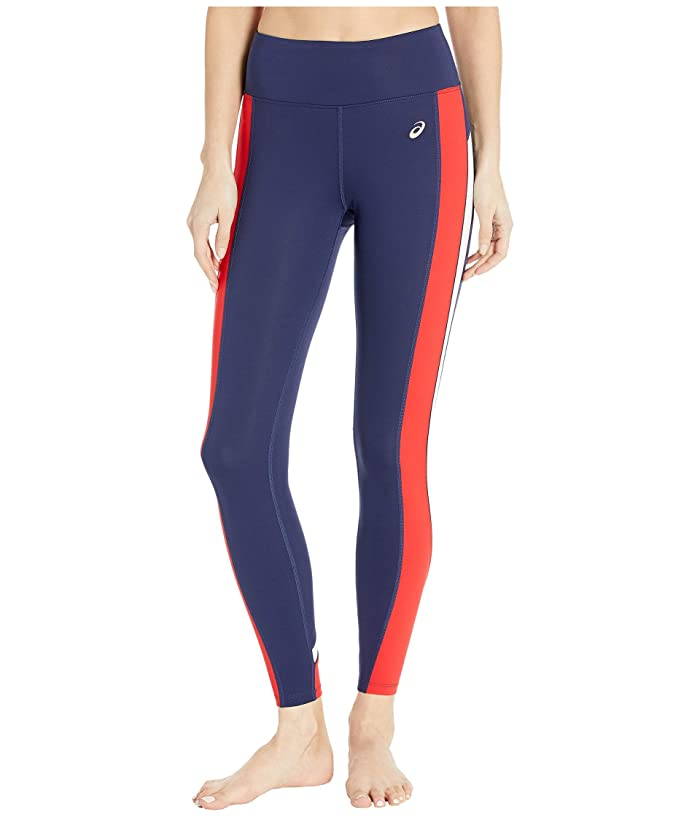 ASICS  Tokyo Train 7/8 Tights (Peacoat/Classic Red) Womens Clothing