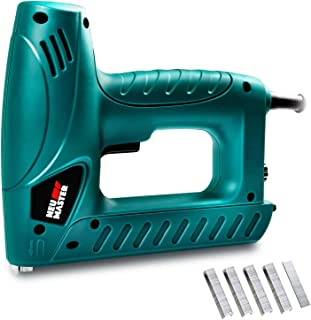 Electric Brad Nailer, NEU MASTER Staple Gun N6013 with Contact Safety and Power Adjustable Knob for Upholstery and Home Improvement, Includes 336pcs Staples and 200pcs Nails