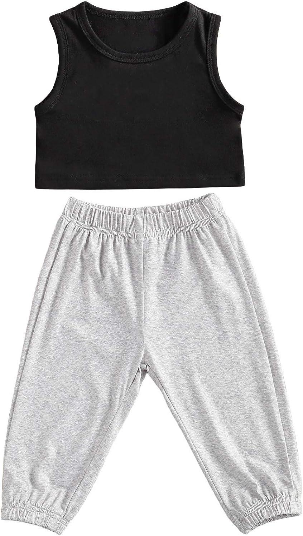 ToddlerKidsBabyGirlShortsOutfitTurtleneckSleevelessT-ShirtTopStripedShortPantsSummerClothes2PCSSunsuit