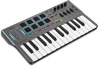 Donner MIDIキーボード 25鍵 MIDIコントローラー USB ベロシティ対応 省すベース 6つのトランスポートボタン 8つのバックライト付パッド 4個のロータリー・エンコーダーノブ 4コントロールスライダー iPhone・Mac・P...