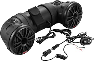 BOSS Audio Systems ATV25B All-Terrain Sound System - 2 6.5 Inch Weatherproof Speakers Tweeters, Built-in Amplifier, Bluetooth Remote, Ideal for ATV UTV and 12 Volt Applications