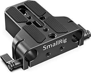 SMALLRIG Camera Base Plate with Rod Rail Clamp for Sony FS7, for Sony A7 Series, for Canon C100,C300,C500, for Panasonic G...
