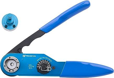 Precisetool YJQ-W2A(AF8,1-01) Hand Crimp Crimp Crimp Tool Frame & Adjustable UH2-5(1-05) Positioner Crimp Tool Kit 12-26AWG B06XZDYGJ2 | Feine Verarbeitung  a20082