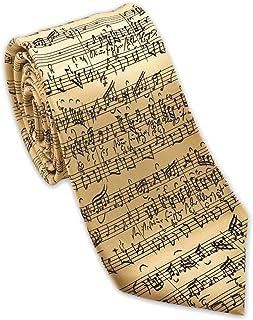 Josh Bach Men's Music by JS Bach Silk Necktie Cream,