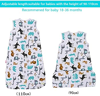 Lictin Baby Sleeping Bag 0.5 Tog- 2 Pcs Baby Wearable Blanket Sleeping Sack Summer Baby Swaddle Sack with Adjustable ...