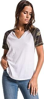 Women's Camo Short Sleeve Baseball T-Shirt