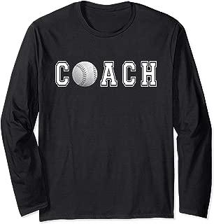 Coach Softball Baseball Coaching t-shirt Long Sleeve Gift