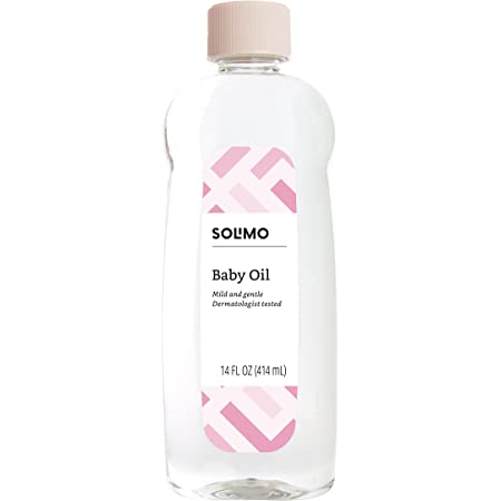 Amazon Brand - Solimo Baby Oil, Mild & Gentle, Dermatologist Tested, 14 Fluid Ounces
