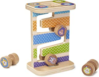 Melissa & Doug First Play Wooden Safari Zig-Zag Tower (4 Rolling Pieces, Great Gift for Girls and Boys – Best for Babies and Toddlers, 12 Month Olds, 1 and 2 Year Olds)