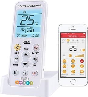Wellclima Smart - Mando a distancia universal Wi-Fi para aire acondicionado, encendido a distancia y control remoto del climatizador mediante aplicación gratuita