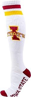 جوارب NCAA Iowa State Cyclones للرجال، أبيض/أحمر داكن/ذهبي