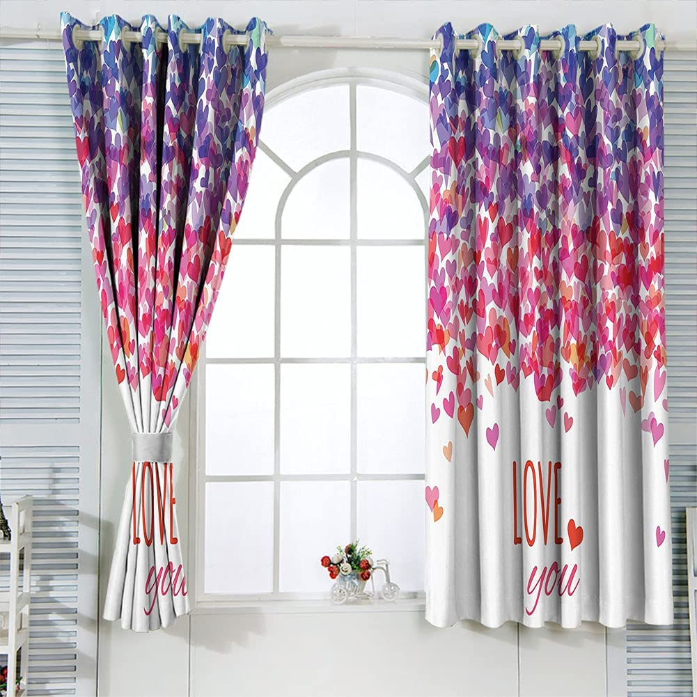 High material Ranking TOP7 Love Insulated Blackout Curtains 63 2 Panels Length inch Hearts