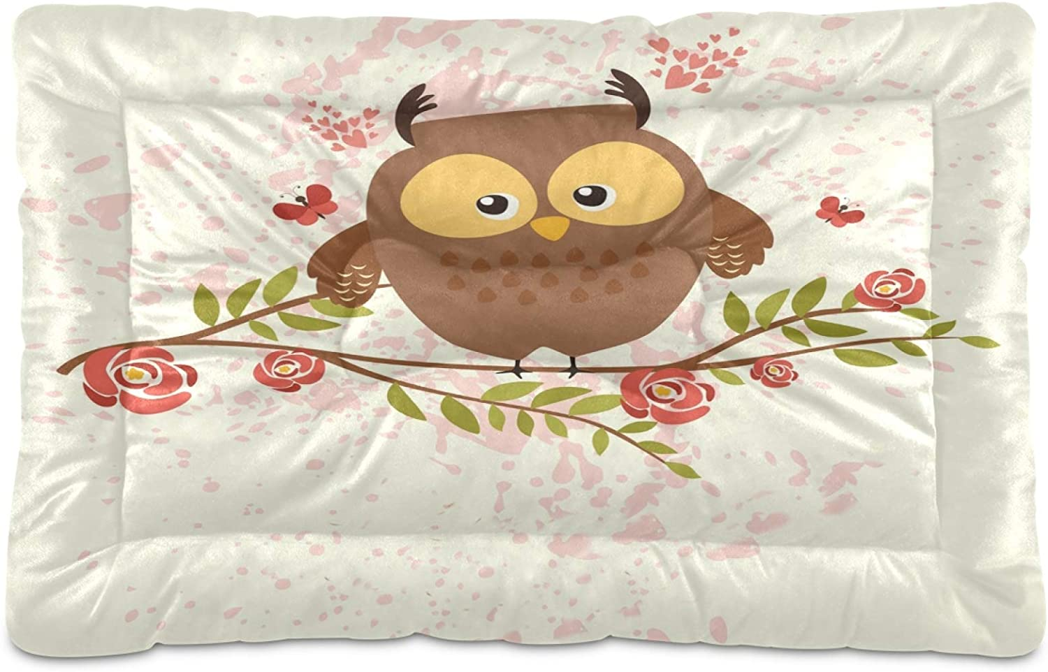 Nander Cute Max 76% OFF Max 45% OFF Owl Flower1 Comfortable Dog Crate Machi Pad Mat Beds