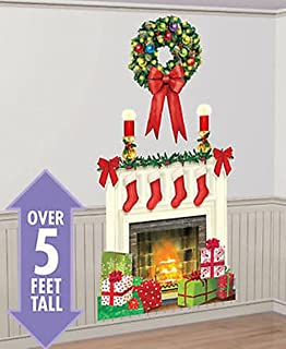 CHSGJY New Holiday Hearth Scene Setter Christmas Party Wall Sticker Decor kit 5