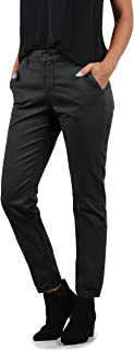 BlendShe Chilli Women's Chino Trousers with Stretch Material, Regular Fit