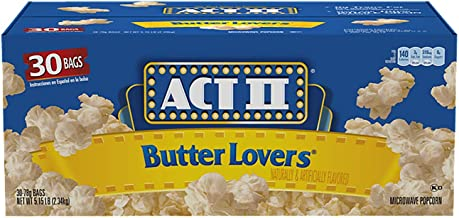 Act II Butter Lovers Microwave Popcorn (3oz., 30 bags) -Pack of 2
