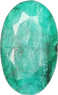Piedra suelta esmeralda verde rara de 26.50 quilates, esmeralda suelta facetada forma ovalada, piedra preciosa esmeralda n...