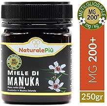 Miele di Manuka 200+ MGO 250 gr   Prodotto in Nuova Zelanda, Attivo e Grezzo, Puro e Naturale al 100%   Metilgliossale Testato  