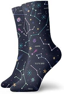 Luxury Calcetines de Deporte Universe Unisex Funny Art 3D Print Casual Crew Socks Athletic Crew Socks