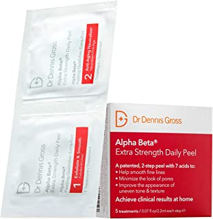 Best Dr. Dennis Gross Alpha Beta Extra Strength Daily Peel: for Oily Skin, Uneven Tone or Texture, Wrinkles or Enlarged Pores (5 Packettes) Reviews