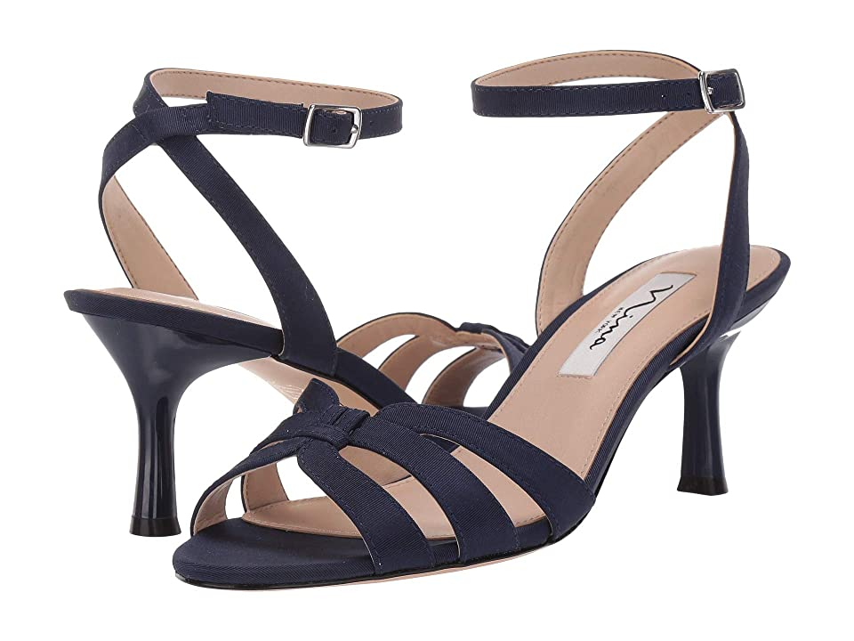 Nina Coralee (Navy Mini Matte Faille) High Heels