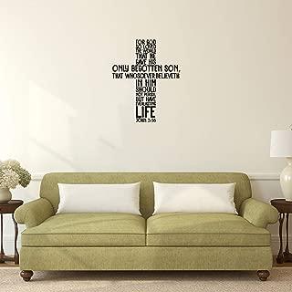 John 3:16 Vinyl Wall Decal Sticker Art (28