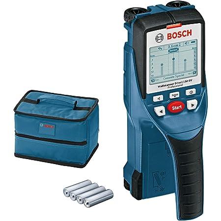 Bosch Professional Rilevatore D-tect 150 SV (profondità di rilevamento max. legno/cavi sotto tensione/tubi in plastica/metallo: 40/60/80/150 mm, confezione in cartone)