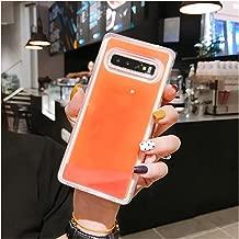 Luminous Neon Sand Cover Glow in The Dark Liquid Glitter Quicksand Cases,for Samsung Note 8,Orange