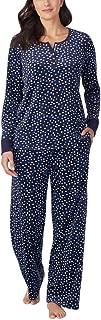 Women's 2 Piece Fleece Pajama Sleepwear Set