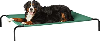 AmazonBasics Extra Large Elevated Cooling Pet Dog Cot Bed - 60 x 37 x 9 Inches, Green