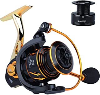 Sougayilang Spinning Reel, Light Smooth 5.0:1High Speed Gear Ratio, CNC Machined & Carbon Matrix Washers Spool,13+1 BB Sal...