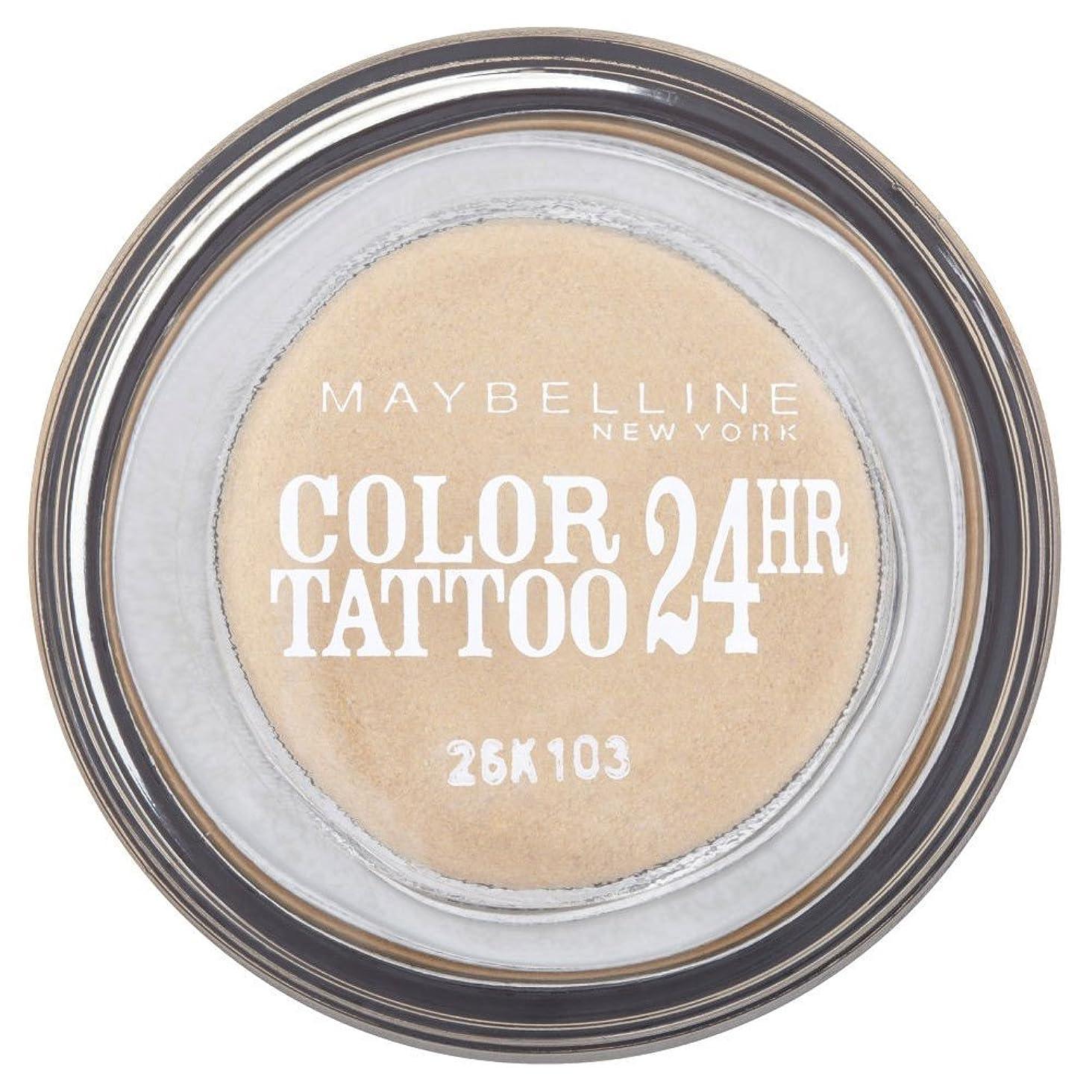 血統忘れられないアライメントMaybelline Eye Studio Color Tattoo 24hr Eye Shadow - Eternal Gold メイベリンアイスタジオカラータトゥー24時間アイシャドウ - 永遠の金 [並行輸入品]
