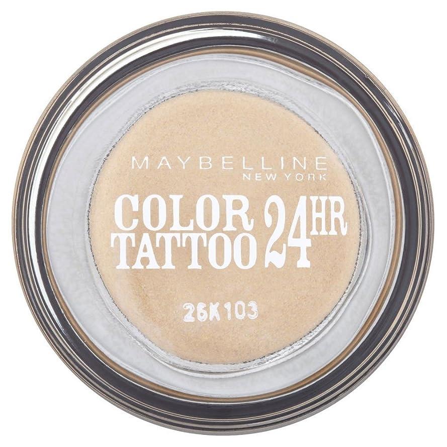 企業活気づくマークMaybelline Eye Studio Color Tattoo 24hr Eye Shadow - Eternal Gold メイベリンアイスタジオカラータトゥー24時間アイシャドウ - 永遠の金 [並行輸入品]