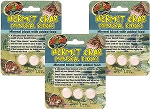 Zoo Med Laboratories SZMHC62 Zoo Hermit Crab Mineral Blocks (1 Pack of 3 Blocks)