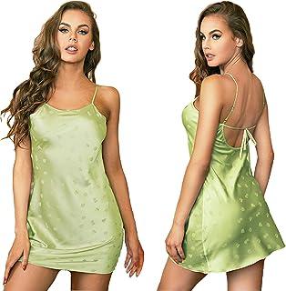 Vinmass Nightwear Lingerie Dress Women sexy Night Dress Ladies Summer Crotchless Lingerie Nightdress Pajamas for Women Silk