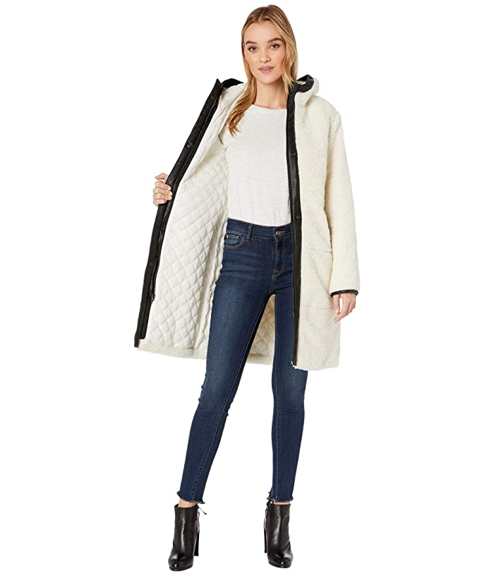 Levi's® Sherpa Hooded Coaches With Quilted Lining And Faux Leather Trim - Ropa Abrigos & Exterior